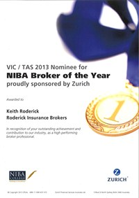 NIBA Broker of the Year Award Nominee