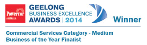 Geelong Business Excellence Awards Commercial Services Category - Medium Business of the year Finalist